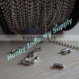 Jewelry Making 2.4mm Ball Chain With Connector Spool Packing