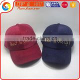100% Corduroy Fabric Dad Cap Gold Metal Thread Embroidery Baseball Hat