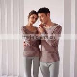 unisex pajama set for couple thermal underwear cotton fabric