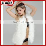 2016 Hot selling Good quality Mink Fake Animal White Fox Fur Vest