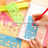 Plastic DIY Stencil Drawing Template for Scrapbooking,Planner,diary,set of 4 PCS