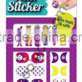 Glitter Princess 3D Nail sticker for kid art sticker paper nail