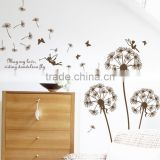 Mural Dandelion Angle Wall Sticker Wall Paper Art Home Decor Removable