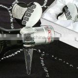 Black and White Heart Wine Stopper