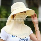Multifunction outdoor magic sun UV protection fishing cycling face mask headwear hats and caps