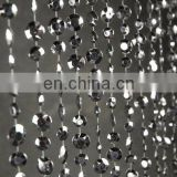 "35"" x 6ft (18 garlands) Silver Crystal Curtains"