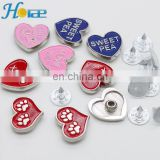 wholesale coloful heart shape metal stud metal heart rivet for pet collar hra004