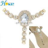 Wholesale high quality rhinestone shoe accessories shoe decoration for ladies fashion shoes