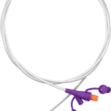 Enteral feeding tube with Y-connector