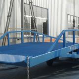 Forklift Yard Ramp Hand Pressure Pump Portable Steel Yard Ramp