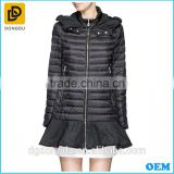 Newest arrival black shinny first goose duck down jacket