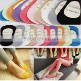 Women Girls No Show Socks Silicone Invisible Low banding 10Color