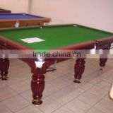 solid wood with slate billiard table