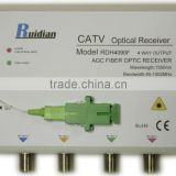 FTTH Four Ways CATV Fiber Optic Receiver build in Filter/Fiber Optic Node/digital tv receiver