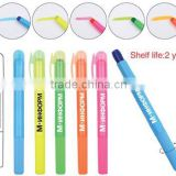 Gel Highlighter 2 Years Shelf Life Twist design Green Orange Blue Hot Pink Yellow Custom Logo