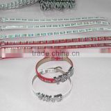 Cheap Price Wholesale Custom Slide Alphabets can be Slided on PU Leather Wristbands Bracelet