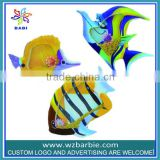 fish self adhesive art foam wall stickers for little kids