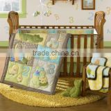100% cotton christmas cot bedding set for baby