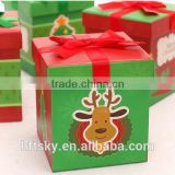 Supported Custom Luxury candy gift box for christmas, paper gift box whloesale