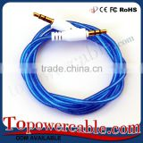 Free Samples Candy Colored 3.5MM to Stereo Audio Aux Auxillary Cable For CD Player In Car