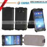 Business style black smart phone flip leather case for Samsung Galaxy Ace 3