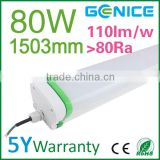 Wholesale 1.5m 80W led waterproof t8 tri proof fluorescent light, waterproof tube led tri proof light made in China