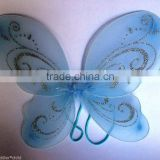 Glitter fancy dress butterfly wings with feather decoration for ladies girlsWG2024
