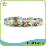 wholesale alibaba woven band adjustable cord glass bead bracelets