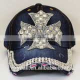 Bling Style Baseball Cap With Rhinestone Embossed