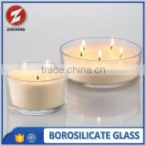 machine made borosilicate glass with glass candle holder                                                                         Quality Choice
