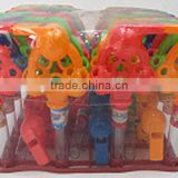 twins football whistle toy with candy