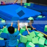 round trampolines with nets, single bungee jumping trampoline wit big foam pit, suppliers indoor trampoline arena