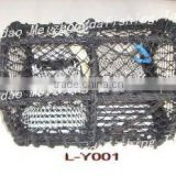 galvanized and plastic coated lobster trap pot