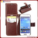 flip leather cover for samsung s4 mini,for samsung galaxy s4 mini cover