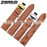 16|18|20|21|22mm genuine Ostrich Leather Watch strap wholesale 3PCS