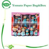 high quality creative design colorful printed paper boxes for doll and small toy, gift wholesale cardboard boxes