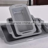 mable coating carbon steel loaf pan with silicone handle square pan rectangle baking pan