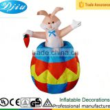 Easter Bunny Inflatable Lighted Rabbit Holding Carrot Indoor Outdoor Decoration