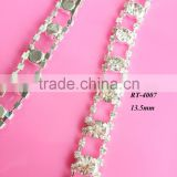 Hot selling DIY rhinestone trim for bridal sash wedding sash Wedding belt & garment accessory(RT-4007)