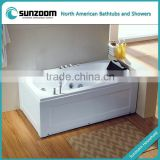 SUNZOOM UPC/cUPC certified vertical massage bathtub, heater hydro bath tubs, acrylic whirpool bathtub