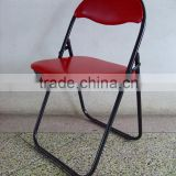 garden metal frame folded chair with padded seat and back /cushion