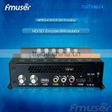 headend equipment mpeg4 Digital RF Modulators (Tuner,CVBS,HDMI in; RF out) for hotel hch