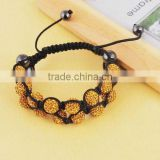 2012 Hotest gold multi layer shamballa bracelet