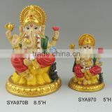 Polyresin Indian God statue for Diwali holiday pooja products-Ganesh Murti