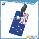 flag printed luggage bags accessory hard plastic luggage tags                                                                         Quality Choice