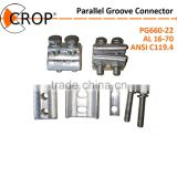 Double Bolts Super Quality Aluminium Copper Parallel Groove PG Clamp/ electrical wire clamp