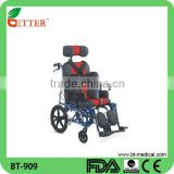 Best selling Foldable aluminum Wheelchair for Cerebral Palsy children