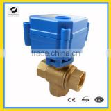 CWX-15 1/2'' 3/4'' 1'' 3-way motorized ball valve AC220v AC230v AC240v for water heaters,HVAC and fire work