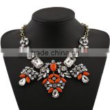 2015 newest spring summer designer exaggerated chunky bib statement fashion cross necklace