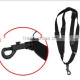 Portable Adjustable Sax Saxophone Strap black shoulder saxophone strap, High quality musical instruments leather nylon